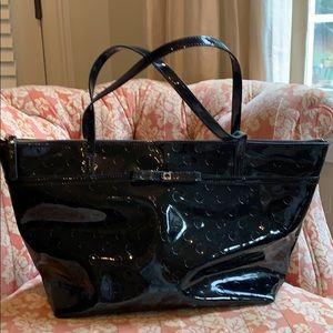 Kate Spade Handbag Black with gold zipper